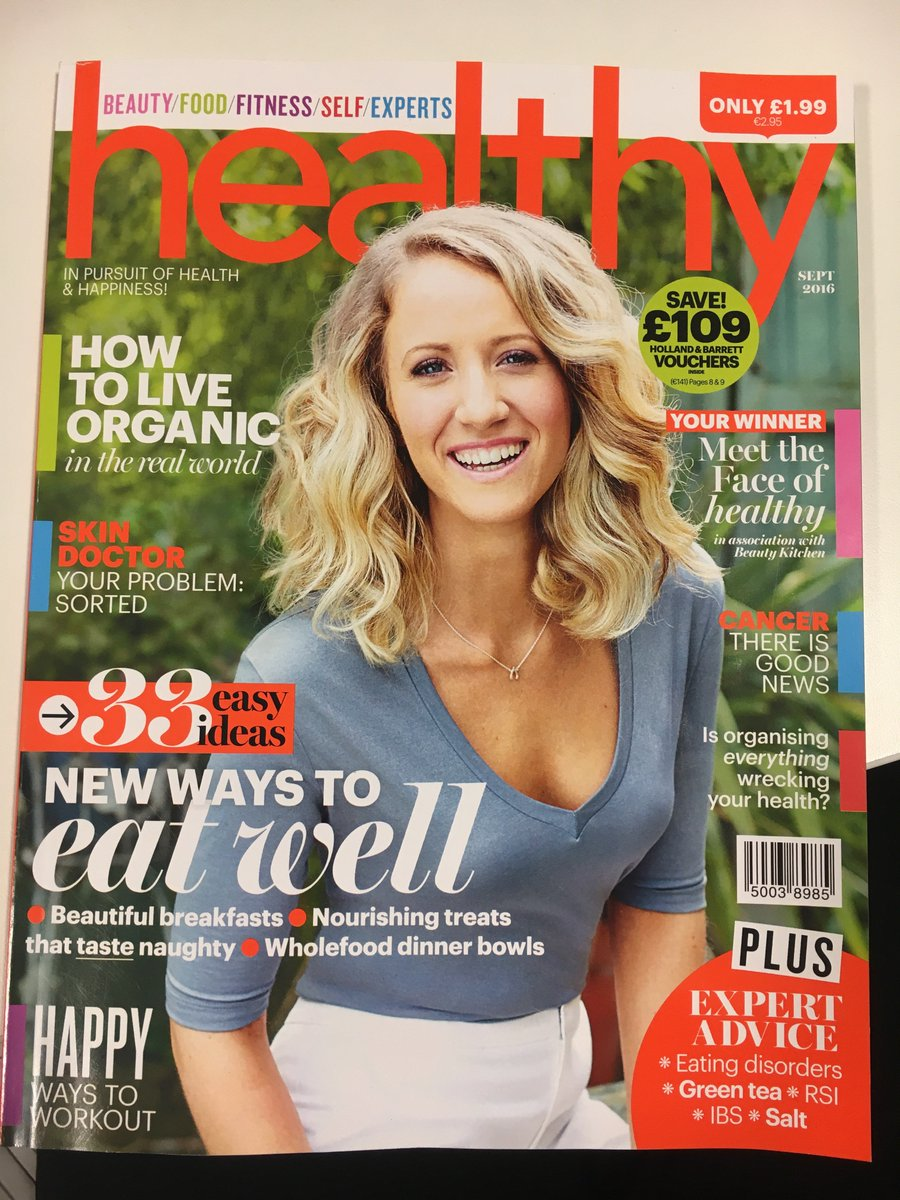The new issue of @healthymag is in stores now! Lots of lovely recipes for you to try :) #loveorganic https://t.co/iXIoNgUHAL