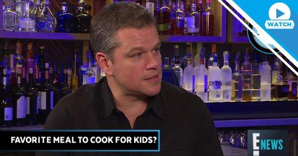 Matt Damon isn't great with emojis, but his kids would tell you he's a pancake pro. 👍