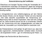 Demozug erlaubt: Verwaltungsgericht #Köln geht davon aus, dass die #Polizei #Hogesa in den Griff bekommt. #Erdogan https://t.co/7mUSNZ2Ij5