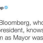 """""""Little"""" Mike Bloomberg could buy you 4 times over, even if we believe your bullshit self-estimated net worth. Putz. https://t.co/uOR1wabxIt"""
