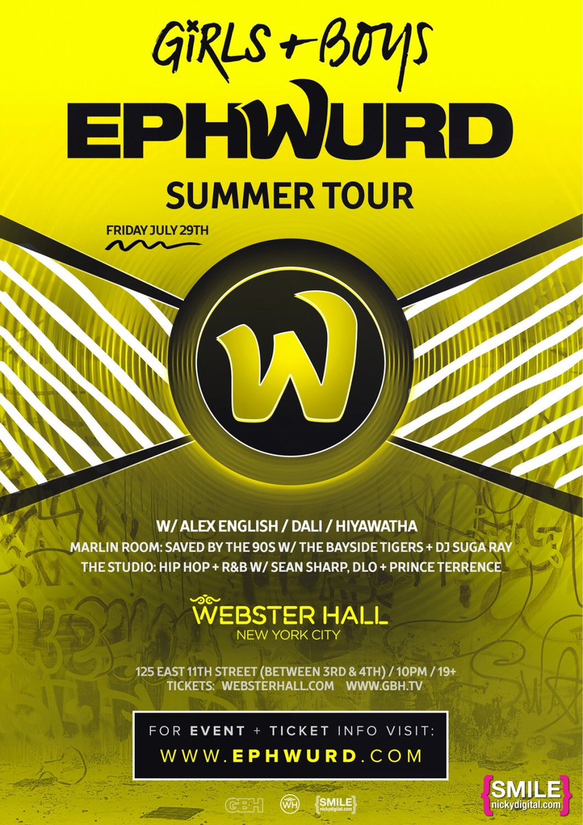 2nite @Ephwurd w @EvacProtocol @alexenglish at @WebsterHall tix https://t.co/XxDFfb8VC2 cc @datsik @BaisHaus https://t.co/JxjaIClNiE