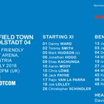 TEAM NEWS with @ViessmannUK: heres David Wagners #htafc line-up for tonights friendly vs @Schanzer_EN (DTS) https://t.co/40UGWn0cdL