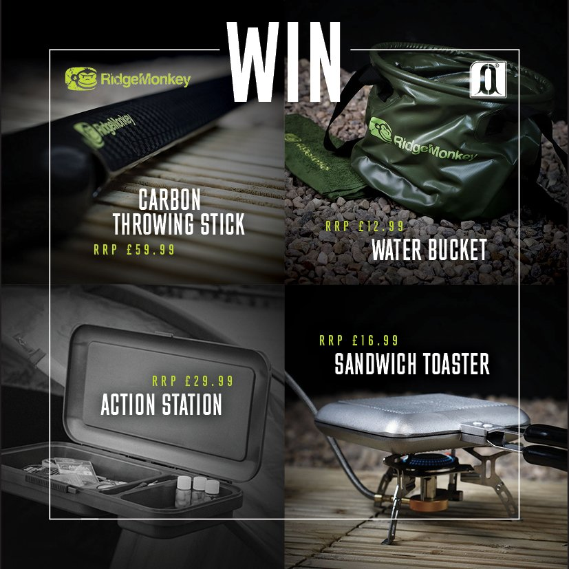 Win £120 worth of RidgeMonkey products! Follow @RidgeMonkey & @carpology then RT. Winner announced Monday 8th #Win https://t.co/7MGH6FPiMU