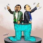 """#كاريكاتير يختصر بوضوح تحالف القتلة """"#الحوثي وصالح""""! #الحوثي_لا_عهد_له #الحوثي_عدو_اليمن #تحرير_صنعاء #اليمن https://t.co/jWvcR9cLE6"""