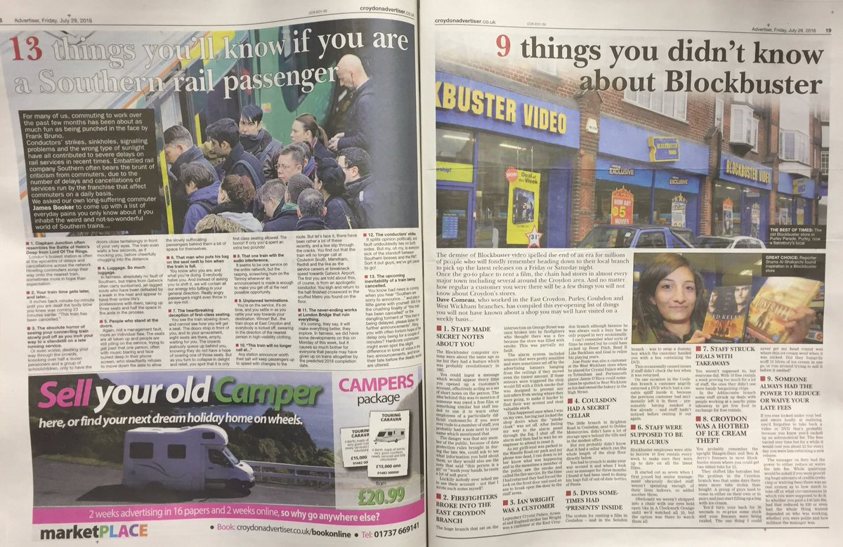 V. sad that this is what Trinity has reduced @croydonad to: running crap listicles in the paper on consecutive pages https://t.co/55s9biZKOZ