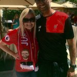 """I asked Klopp if he liked my Klopp scarf. He asked, """"is that me!?"""" 😂😂😂😍😍😍🙌 #ReDDerTogether #sponsor #LFC #LFCtour https://t.co/64LvwPWeey"""