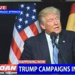 Trump LIVE in Colorado Springs on OAN Channel. #MAGA https://t.co/yiXAvCj8Cg