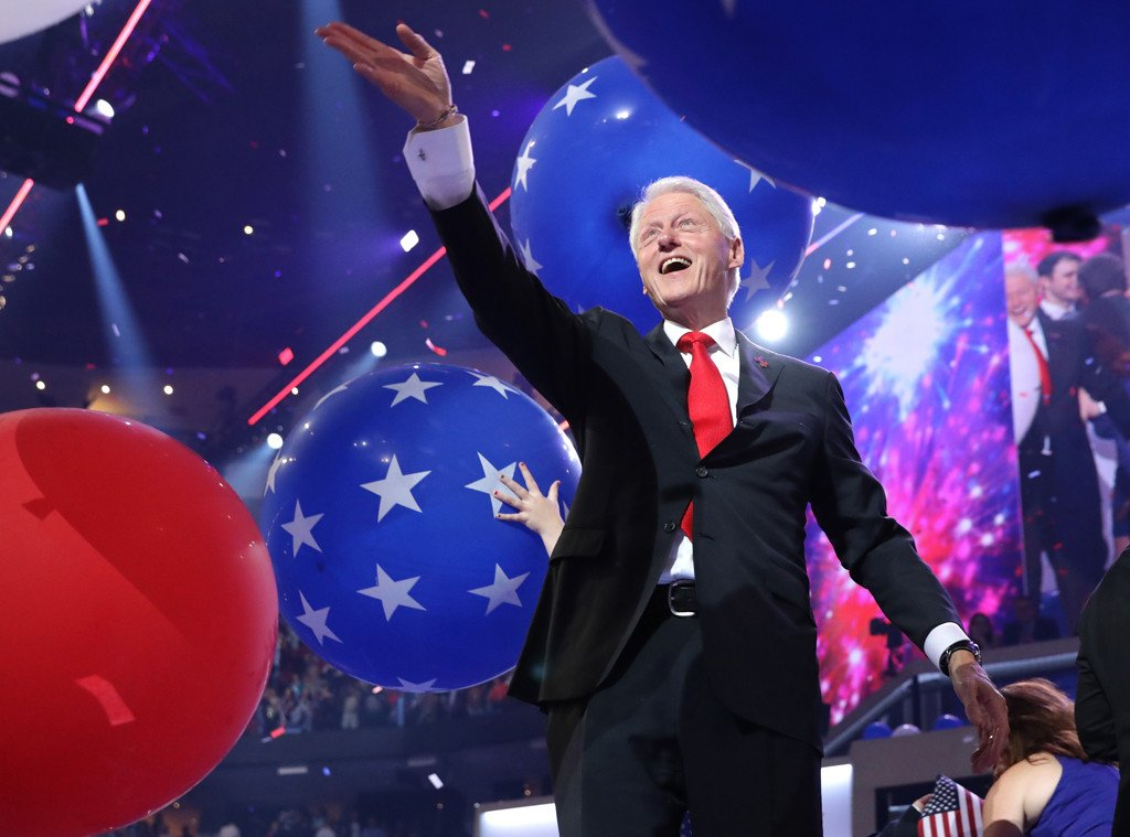 Tom Hiddleston looks at Taylor Swift the same way Bill Clinton is pining for this balloon.