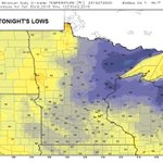 TONIGHTS LOWS: A nice night to open the windows with lows in the 50s across southern Minnesota. #MNwx #Mankato https://t.co/S1T4lvrQOW