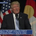 """""""You people are lazy & dont vote..."""" Trump, pointing to crowd in Colorado. Smattering of boos. @CBSNLive @CBSNews https://t.co/AxMydsoU2A"""