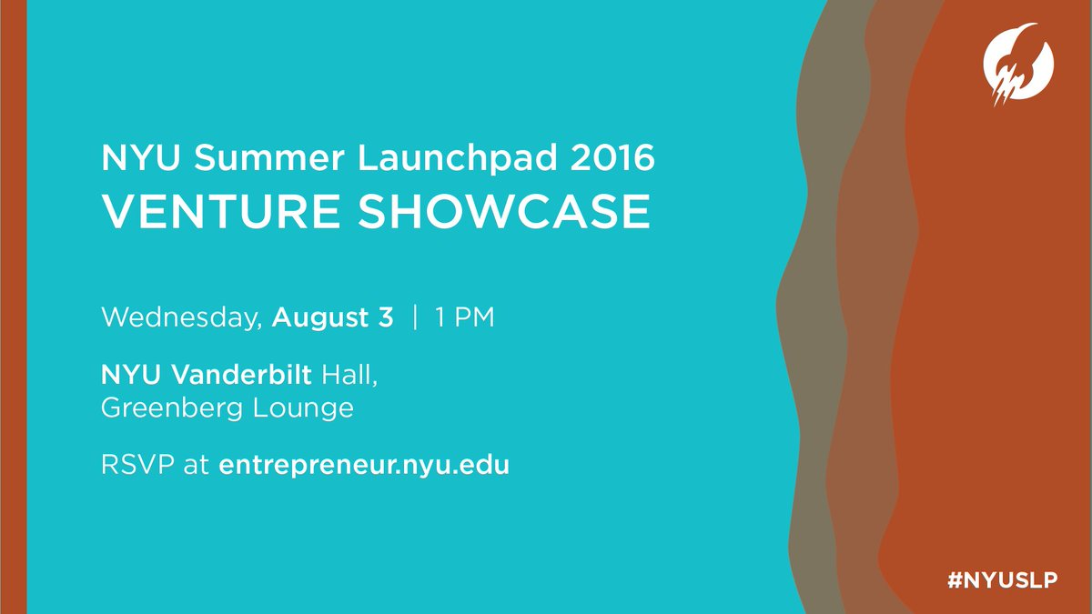 NYU Summer Launchpad Venture Showcase is taking place on August 3rd at 1pm https://t.co/PKOwXMUaMk Join us! https://t.co/G3J3Rgxixe