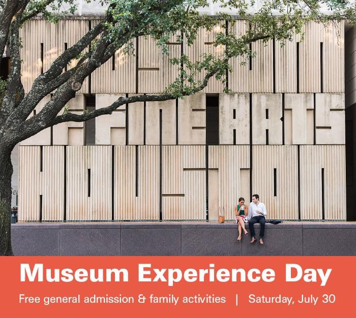 Museum Experience Day tomorrow, July 30! FREE gen admission + family activities: @CAMHouston , @JungHouston & @MFAH https://t.co/fL3vJyoURy