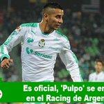 #VIDEO Es oficial, #Pulpo se enrola en el @RacingClu https://t.co/sLF36ebjae @ClubSantos @torreon @SigloCoahuila https://t.co/JSJB2DH2KU