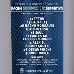 Aliñación d #osnosos para o LV Trofeo Concepción Arenal, ás 20:30 h. na Malata fronte ao @RacingFerrolSAD https://t.co/Lo7SeLnHUP