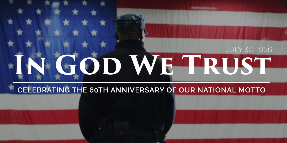 #OnThisDay in 1956 #InGodWeTrust was established as our nation's motto to honor our shared heritage and faith. https://t.co/ZetOxAK2BX