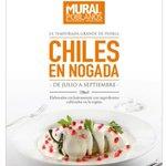 ¡Llegaron los chiles en nogada al @muralpoblanos! en #Puebla. No te quedes con el antojo, te haces 2 hrs de camino. https://t.co/hB4r1WeBsH