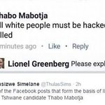 Ignorance, racism & bigotry has no place in South Africa! IEC has disqualified EFF Tshwane candidate #ThaboMabotja. https://t.co/TY3hohNlLT