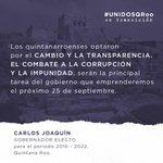 Trabajamos para corregir el rumbo de Quintana Roo. Un futuro más esperanzador es posible. https://t.co/G5auR9woAt