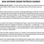 "#Spurs make it official with the signing of Patricio ""Pato"" Garino https://t.co/ZCOlMr3DGT"