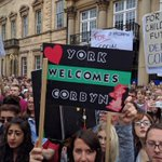 Hundreds line up to welcome Corbyn in York. These arent Trots or bullies. They are decent folks seeking change. https://t.co/KY2BlIkuMb
