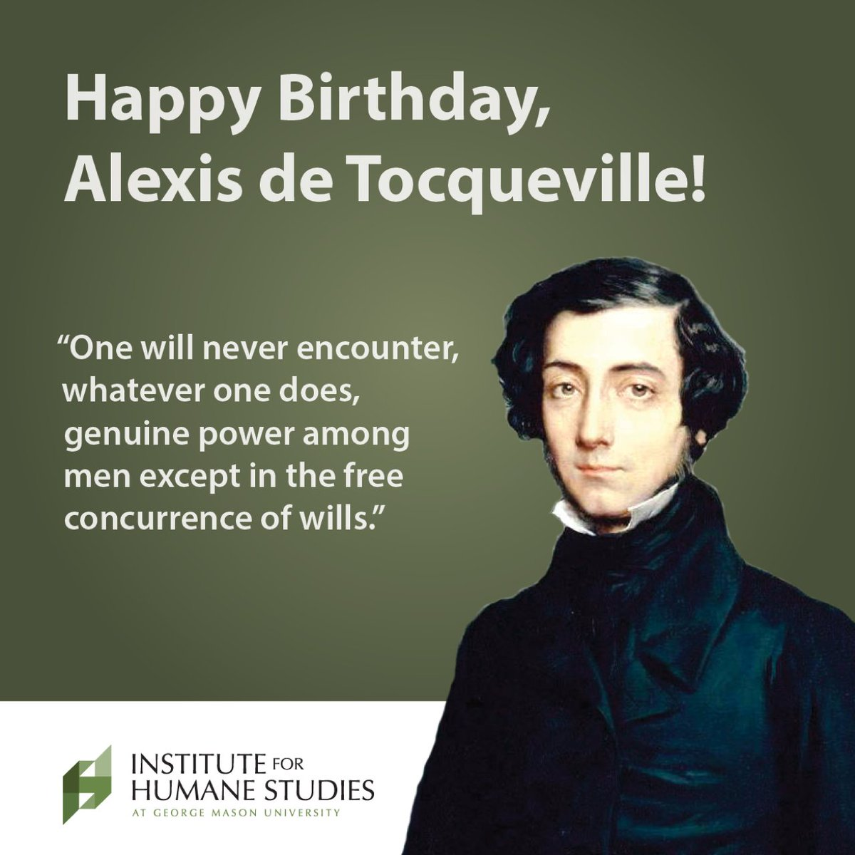 French political scientist Alexis de Tocqueville was born 211 years ago today! https://t.co/x154QMG96f
