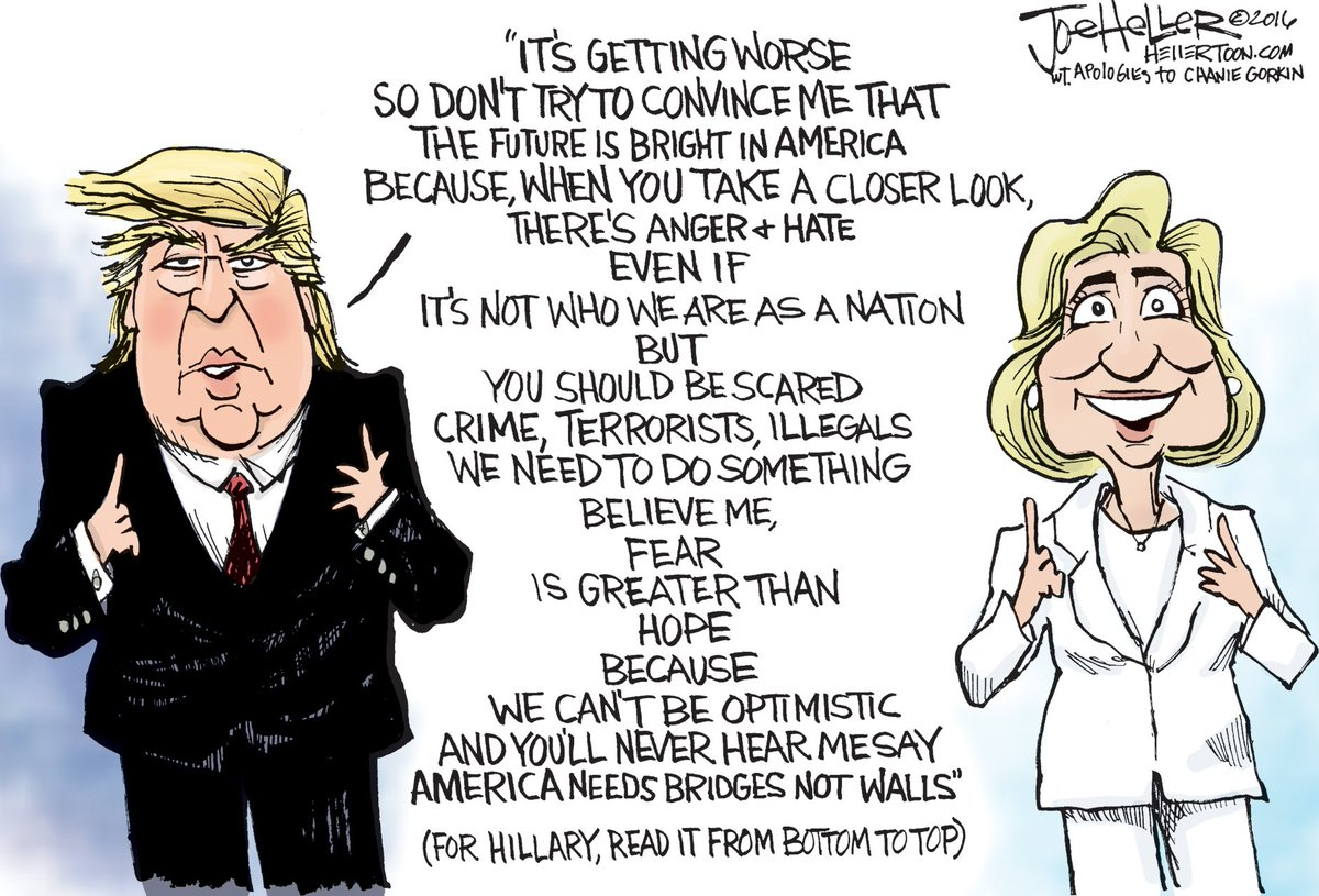 This political cartoon captures all you need to know abt @HillaryClinton & @realDonaldTrump https://t.co/t1FnuUG7Bu https://t.co/rJjveMKDP2