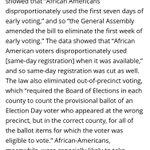 The North Carolina legislature engaged in a blatant attempt to disenfranchise black voters. https://t.co/3RMVkvnKbK https://t.co/9Oa2uFjGRg