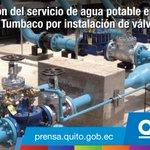 Corte de agua potable en Tumbaco desde HOY 08h00 hasta mañana domingo 08h00. Más aquí: https://t.co/BCjgdUHlGB https://t.co/1wp6g2WfMz