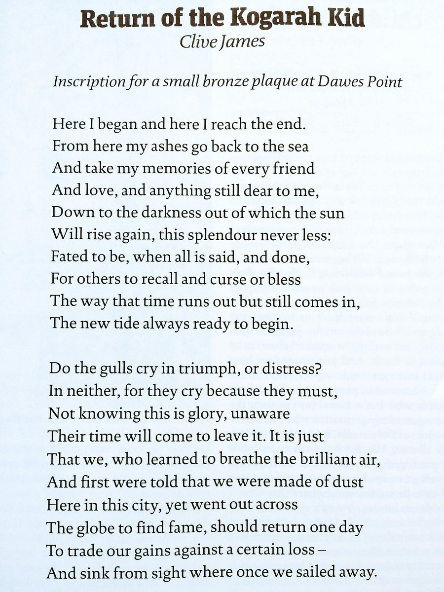 The new poem by Clive James in this week's New Statesman. https://t.co/WM2nXg7xgw