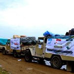 أول قافلة إغاثية تصل لقرية الصراري بـ #تعز من مركز #الملك_سلمان للإغاثة بعد فك الحصار عنها #السعودية #اليمن https://t.co/lfyjSbj9SE