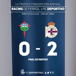 Final na Malata! @RacingFerrolSAD 0-2 #Dépor (Gil e Riera). Campións do LV Trofeo Concepción Arenal https://t.co/XpzkZhuusR