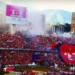 Bonito gesto de la hinchada del DIM, trapo en honor al 27 de Julio, día en q Atlético Nacional gana la Libertadores. https://t.co/crDPON5DXj