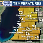 Showers west of #Kalamazoo, storms south of #Coldwater & beyond. #HourbyHour 11 PM. #Kalamazoo: 74° #wwmt #wmiwx https://t.co/Bpbsg3z4g4
