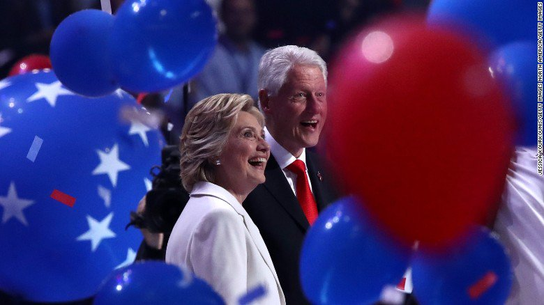 Balloons bounce off Twitter on the final day of the #DemConvention #DemsInPhilly