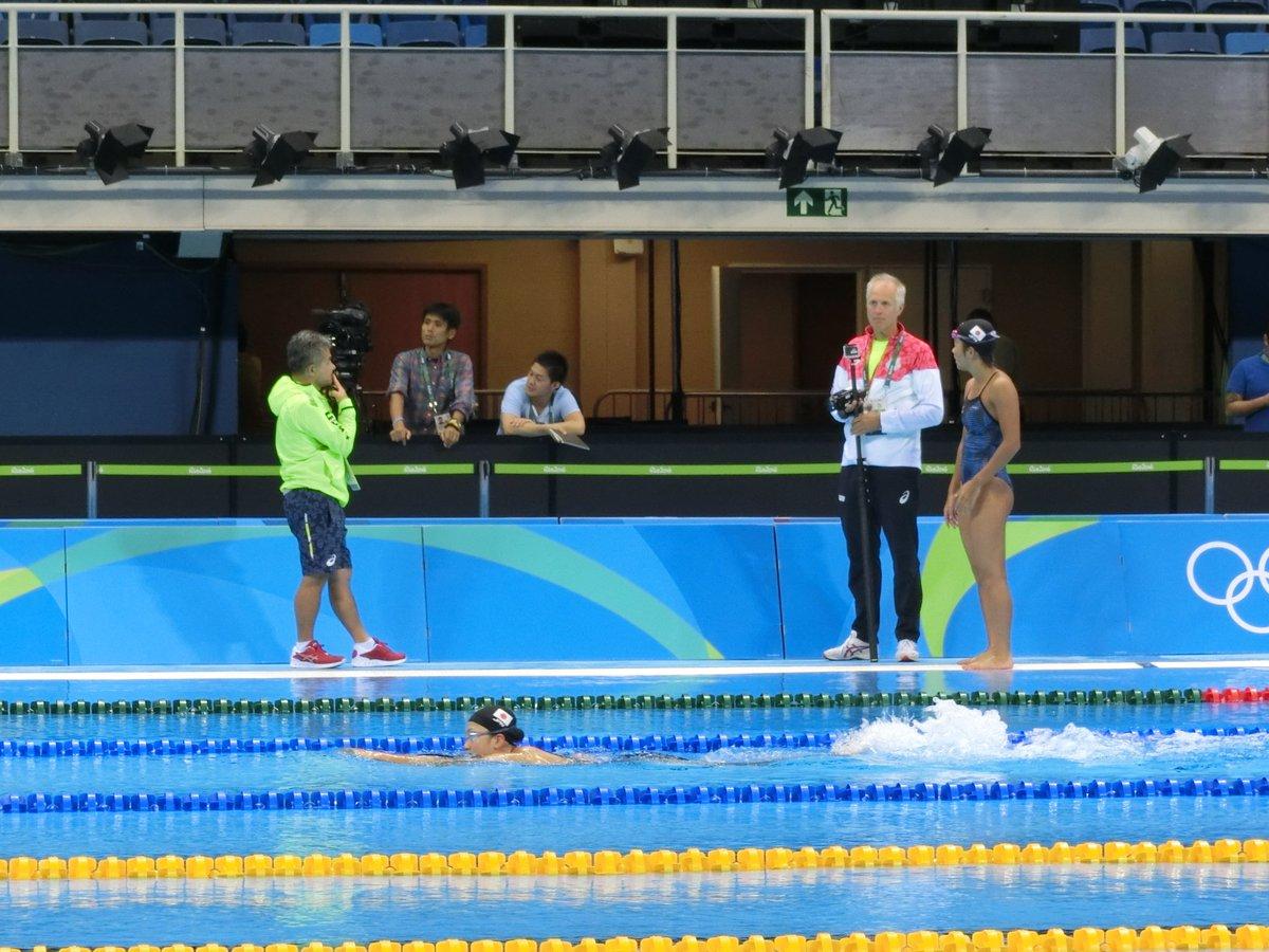 Olympic Aquatics Stadiumで初泳ぎ!泳ぎやすく感触も良いようです! #Rio2…