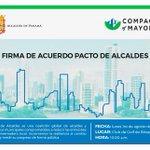 Los Alcaldes de Arraiján, Chorrera, Colón, Panamá y San Miguelito firmaremos un Pacto este lunes #CambioClimático https://t.co/Ii6w9RVKiw