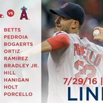 Tonight's #RedSox lineup for Game 2 of the series against the Angels. https://t.co/HDXwiMK5Kl https://t.co/pEsScRoxRP