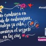 Esta noche, respete su vida y la de los demás. No conduzca si está consumiendo alcohol. #FeriaDeLasFlores. https://t.co/1pGF74awHU