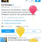 Happy birthday, @EatBulaga 🎂!#EBisLove ❤️ https://t.co/0xhqvBka0o