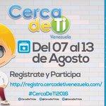 #CercaDeTi2016 Falta 1 semana! Está atento a las actividades del programa social social! TI! #CercaDeTi2016 https://t.co/1Ycmw2ZWLN