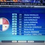Así sale Panamá para enfrentar a China Taipei en el Mundial de Béisbol Sub15 @tvnnoticias #JMDeportes https://t.co/Vb1HUDeVhm