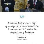"""Peña Nieto habla de """"libre comercio"""" con Argentina sabiendo que el NAFTA arruinó México. Todo un embajador de EEUU. https://t.co/0AgACw29Tw"""