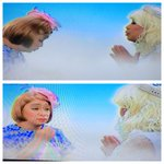 """#EBisLove Angel gives Lola Nidora a """"chewy-ble."""" Lola N still has unfinished business on earth. 