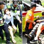 경찰 병력 1600여 명 투입된 이화여대 본관 점거 농성 진압 현장 https://t.co/6TP79MEA5Y  #이화여대 https://t.co/8m6NrWpdh6