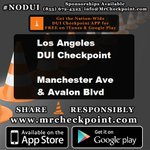 NOW #LosAngeles DUI Checkpoint Manchester Ave & Avalon Blvd #NODUI #LA #MrCheckpoint https://t.co/qTq5RcyUNa