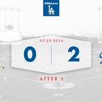 After 2: #Dodgers 2⃣, D-backs 0⃣ 👍 https://t.co/cx4wj4bKyq