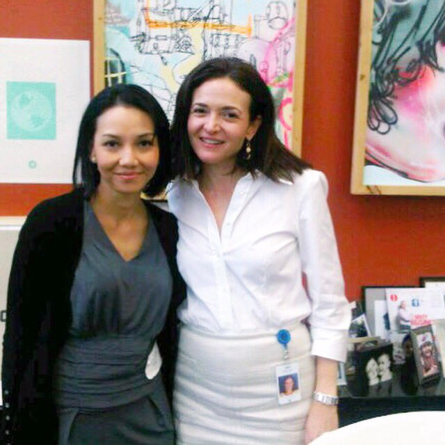 5 yrs ago, I first met @sherylsandberg  at FB HQ.  Honored & blessed to hv her support. Tx Sheryl