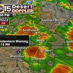 Curb to curb flooding reported at Scottsdale rd/ McDonald. Svr wind with storms in the east valley #abc15wx #azwx https://t.co/aFdwgarJZl