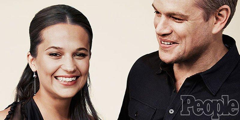 Matt Damon on his JasonBourne costar: Everyone wants Alicia Vikander right now