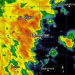 THIS is whats waking you up... Severe TStorm warning issued for Edmonton. #yeg #yegwx #abstorm. https://t.co/nTQPBS7M25